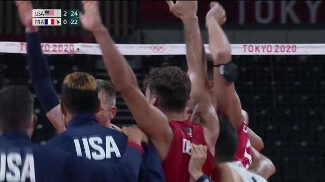 Volleyball messieurs, USA – FRA (25-18, 25-18, 25-22) : rien à faire pour la France contre les Etats-Unis [RTS]