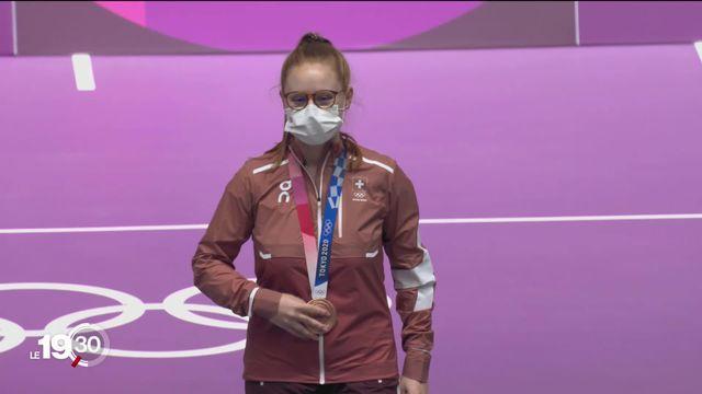 JO de Tokyo: Nina Christen obtient la médaille de bronze dans l'épreuve de tir à la carabine à 10m [RTS]