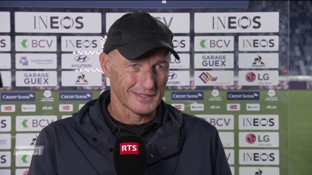 Lausanne-Sport - St-Gall (1-2): Interview de Peter Zeidler, entraîneur de St-Gall [RTS]