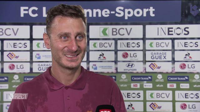 Lausanne-Sport - St-Gall (1-2): Interview d'Ilija Borenovic, entraîneur du LS [RTS]