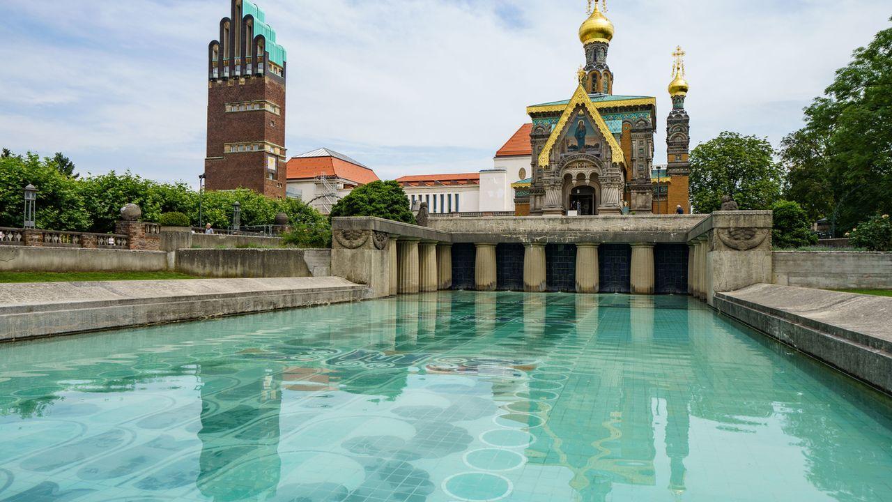 Vendredi, l'Unesco avait classé également la colonie d'artistes de Mathildenhöhe, façonnée par l'artiste Albin Müller en 1914 à Darmstadt, en Allemagne (image d'illustration). [Frank Rumpenhorst - Keystone]