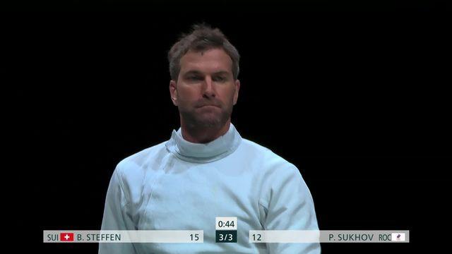 Escrime individuel messieurs: Benjamin Steffen (SUI) s'impose 15-12 et accède à la suite du tournoi [RTS]