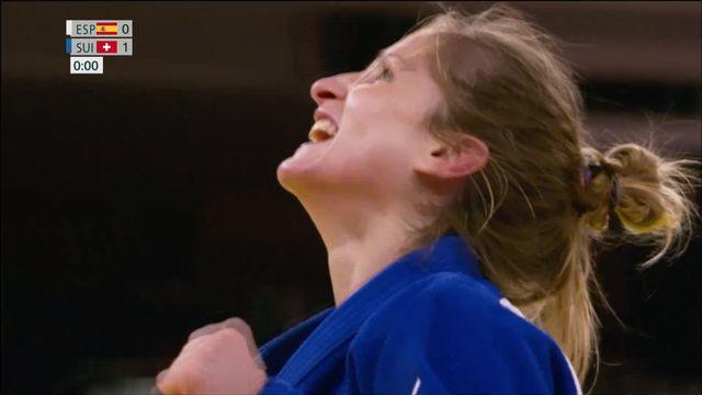 Judo, -52kg dames: Fabienne Kocher (SUI) remporte son combat ! [RTS]