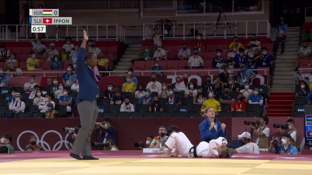Judo 1-4, -52kg dames: Fabienne Kocher est inarrêtable avec un ippon parfaitement réaliser, la Suissesse file en demi-finale ! [RTS]