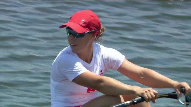 Aviron, 1-4 skiff dames: Jeannine Gmelin (SUI) se classe 2e et accède aux demi-finales [RTS]