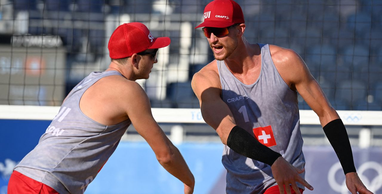 Mirco Gerson et Adrian Heidrich n'ont plus le droit à l'erreur s'ils entendent atteindre les 8es de finale. [Angela Weiss - AFP]