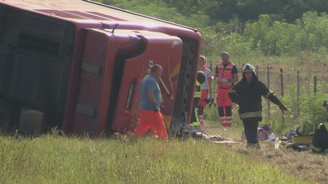 Au moins 10 morts dans un accident de car en Croatie [RTS]