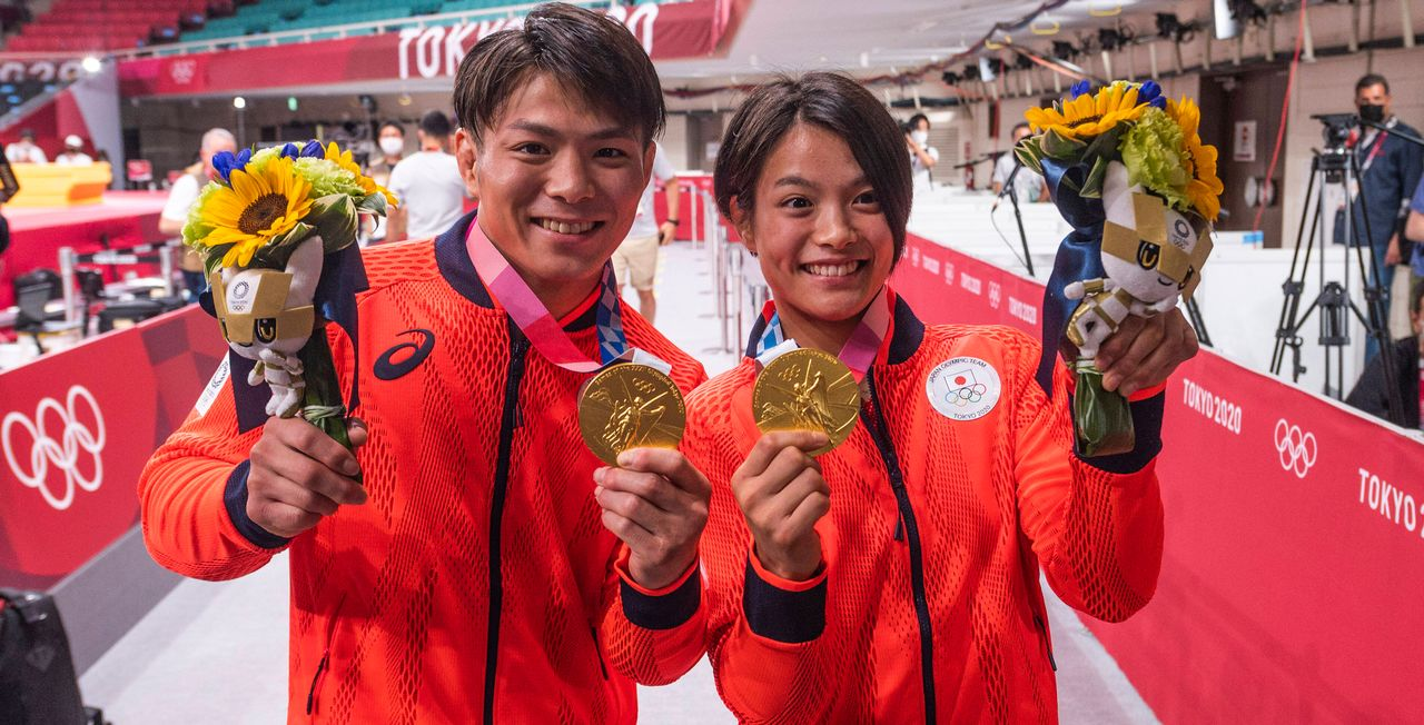 Hifumi et Uta Abe ont remporté l'or à quelques minutes d'intervalle dimanche. [JBAutissier - Imago]