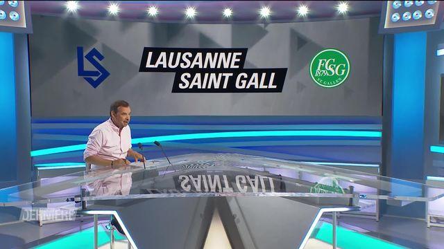 1re journée, Lausanne - St-Gall (1-2) [RTS]