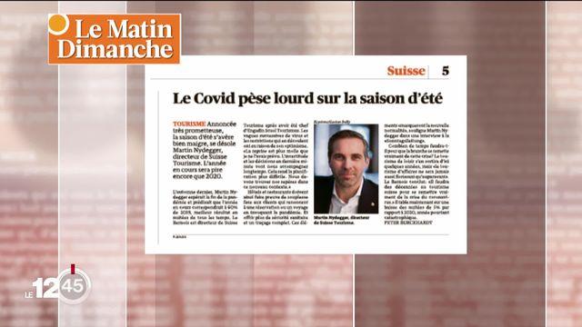 Covid, tourisme et rentrée scolaire: la revue de presse de Julien Guillaume [RTS]