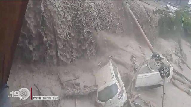 Des orages d'une violence extrême s'abattent sur Lucerne et Schwytz. Routes et liaisons ferroviaires coupées [RTS]