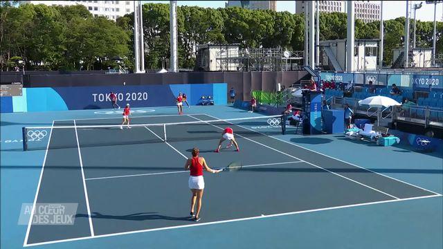 Tennis: Belle entame du tournoi de double par Bencic et Golubic [RTS]