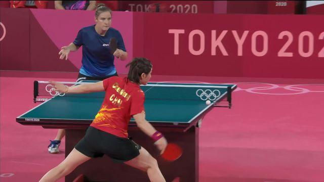 Tennis de table, qualifications dames: R.Moret (SUI) éliminée avec les honneurs [RTS]