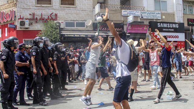 Une manifestation à Tunis le 25 juillet 2021. [Hassene Dridi - AP Photo/Keystone]