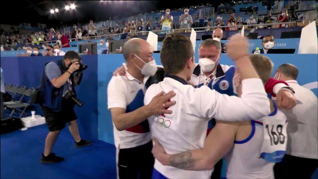 Gymnastique artistique, finale par équipes messieurs: victoire de la Russie au bout du suspens, la Suisse termine 6e [RTS]