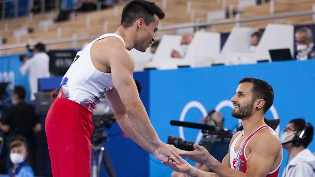 Eddy Yusof (gauche) et Pablo Brägger (droite) peuvent être fiers de leur parcours olympique. [Peter Klaunzer - Keystone]