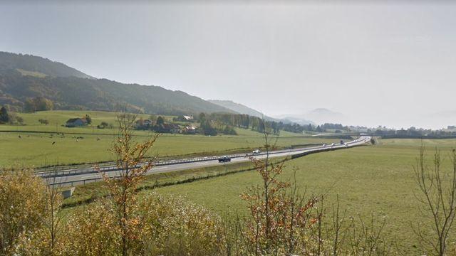 L'autoroute entre Châtel-St-Denis et Vaulruz. [Google Street View]