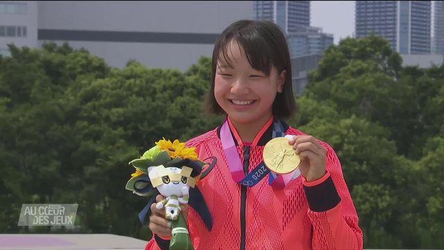 Skateboard: Nishiya remporte l'or à 13 ans seulement [RTS]
