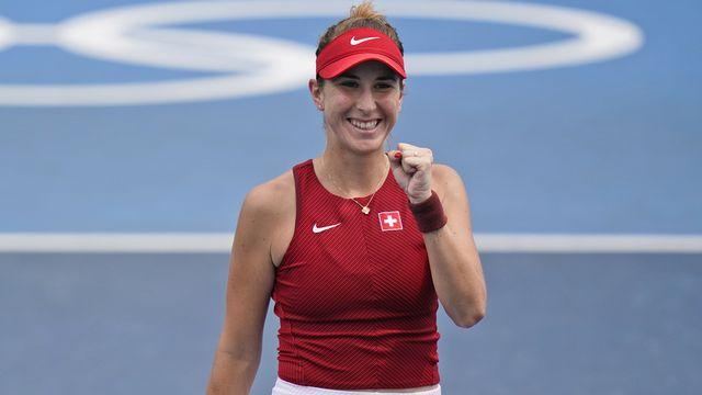 Belinda Bencic défiera Anastasia Pavlyuchenkova en quarts de finale. [Seth Wenig - Keystone]
