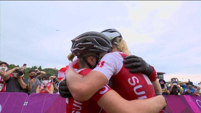VTT, cross-country dames: Incroyable triplé suisse ! Neff en or devant Frei et Indergand ! [RTS]