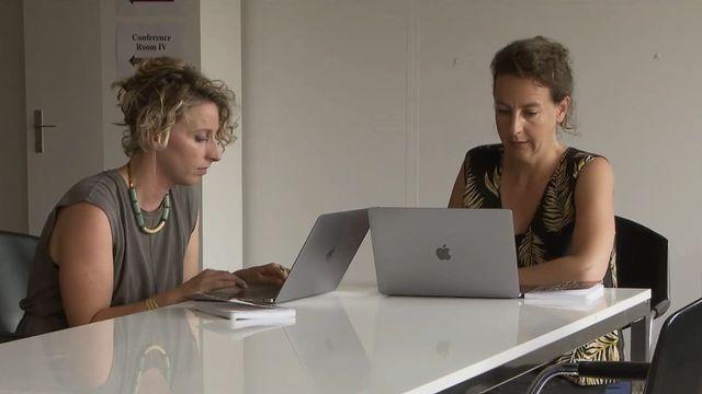 Les co-fondatrices de l'agence Inouïe, Lola Nada et Carole Harari. [RTS]