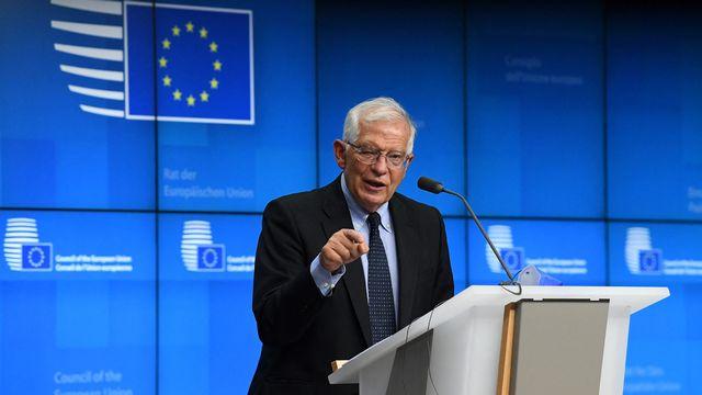 Josep Borrell, le chef de la diplomatie européenne, a une conférence de presse en juillet 2021. [John Thys - AFP]