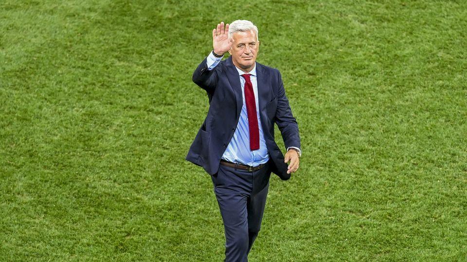 Vladimir Petkovic dit adieu à l'Equipe de Suisse après 7 ans passés à sa tête. [Daniel Mihailescu/Pool Photo via AP - Keystone]