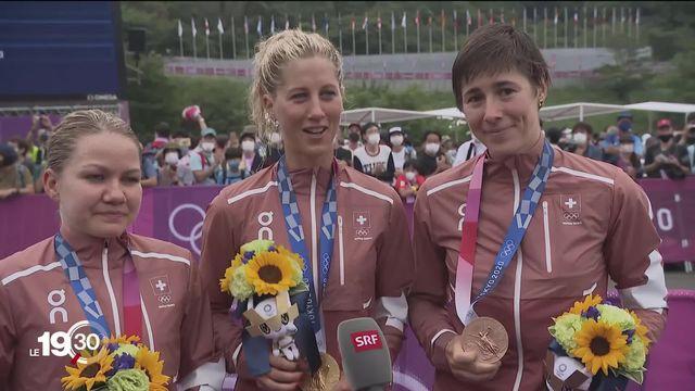 Triplé historique de VTT aux JO de Tokyo 2020. Or, argent et bronze pour Jolanda Neff, Sina Frei et Linda Indergand [RTS]