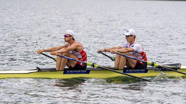 Barnabé Delarze et Roman Röösli échouent à la 5e place. [Urs Flueeler - Keystone]