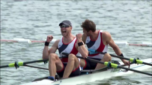Aviron, finale deux de couple messieurs: prestation décevante des Suisses, les Français champions olympique [RTS]