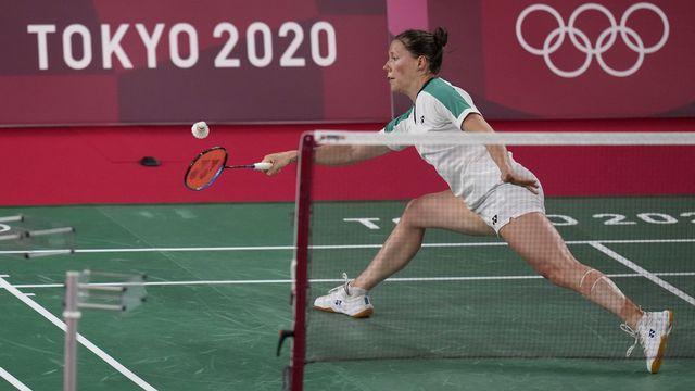 Sabrina Jaquet s'incline une 3e fois à Tokyo. [Markus Schreiber - Keystone]