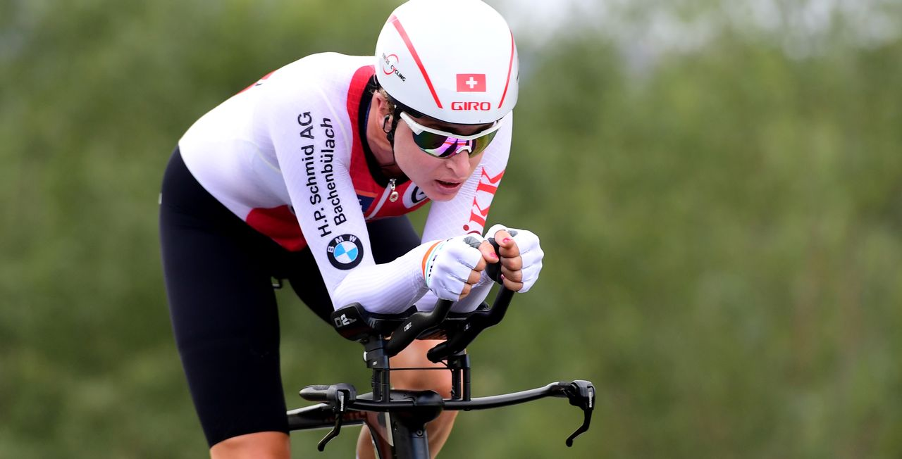 Marlen Reusser a apporté sa 6e médaille à la Suisse! [Jennifer Lorenzini - Reuters]