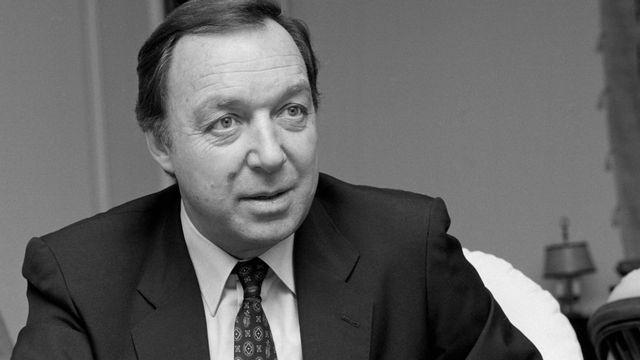 Jean-Pierre Hocké à Genève en décembre 1987. [Keystone]