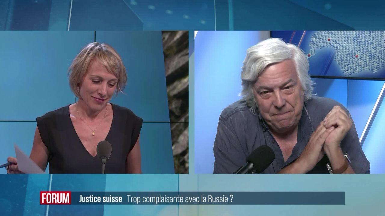 La justice suisse, trop complaisante avec la Russie? Interview d'Andreas Gross [RTS]