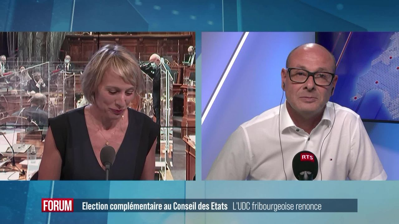 Aucun candidat de l'UDC fribourgeoise pour succéder à Christian Levrat aux Etats [RTS]