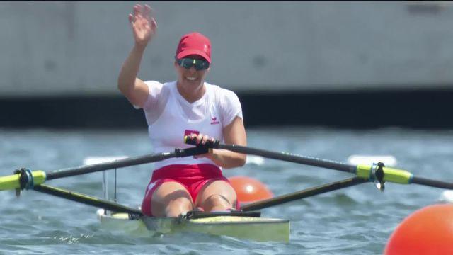 Aviron, 1-2 skiff dames: la Suissesse Jeannine Gmelin se qualifie pour la finale [RTS]