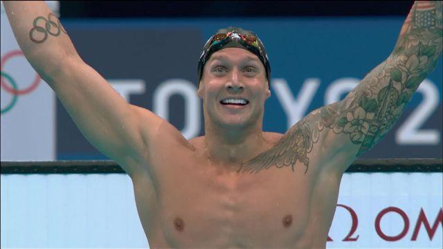 Natation, finale 100m messieurs: Dressel (USA) couronné au terme d'une finale explosive ! [RTS]