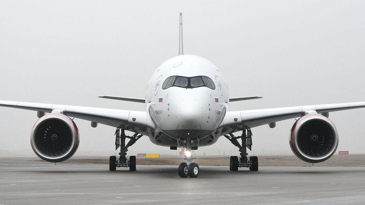 Airbus va produire un dérivé cargo de l'A350 (ici, un A350-900 d'Aeroflot). [Ramil Sitdikov  - Sputnik/AFP]