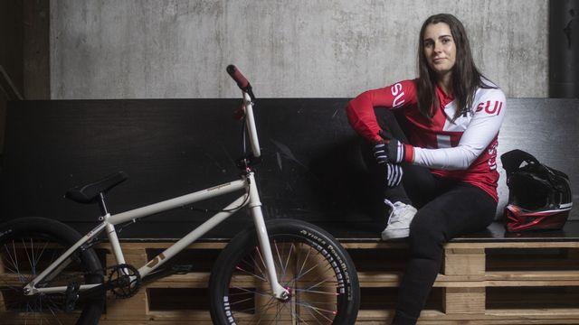 """Nikita Ducarroz ne se cache pas: """"Je sais que je vais devoir rester calme pour atteindre mon objectif; je veux une médaille"""", dit-elle. [Ennio Leanza - Keystone]"""