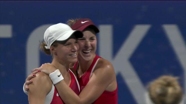 Tennis, 1-2 double dames, Pigossi-Stefani (BRA) - Bencic-Golubic (SUI) (5-7, 3-6): finale olympique pour la paire suisse! [RTS]