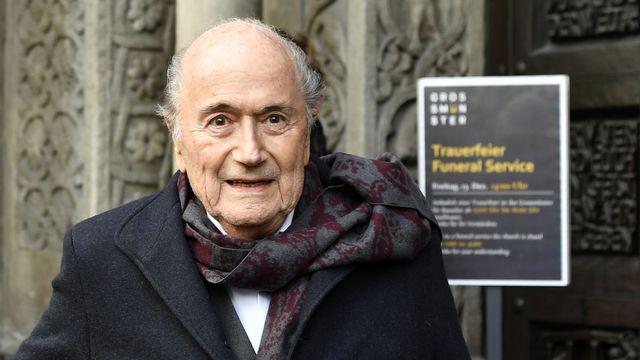Le Tribunal pénal fédéral abandonne partiellement ses poursuites contre Sepp Blatter [Walter Bieri - Keystone]