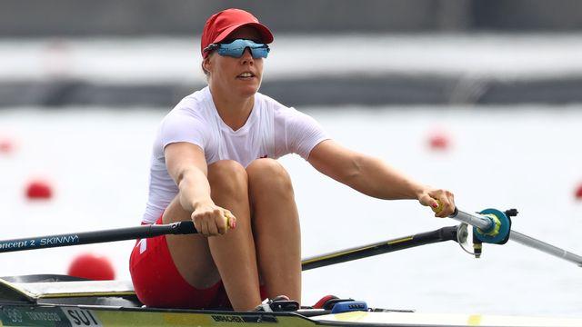 Comme en 2016 à Rio, Jeannine Gmelin échoue toute proche d'une médaille lors des JO de Tokyo. [Reuters]