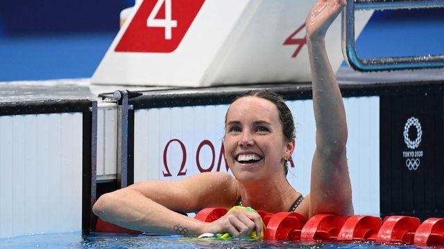 Emma McKeon a parfaitement assumé son rôle de favorite en s'adjugeant l'or du 100m nage libre. [AFP]