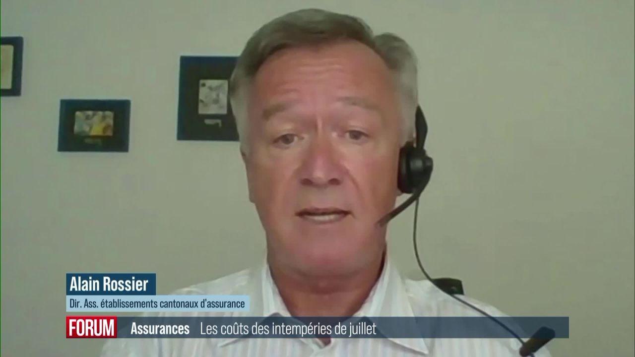 Le coût des intempéries de juillet s'élève à 650 millions de francs: interview d'Alain Rossier [RTS]