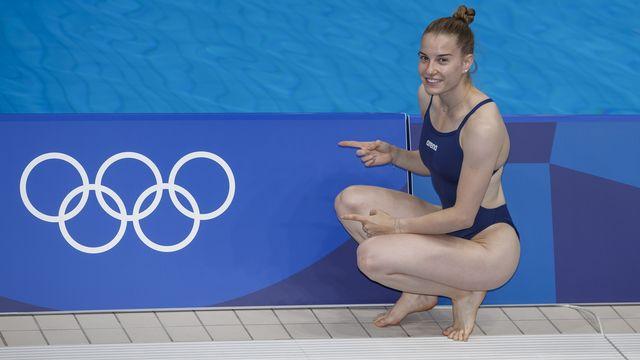 Michelle Heimberg a été inspirée dans l'eau japonaise. [Patrick B. Kraemer - Keystone]