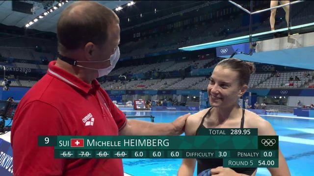 Plongeon, tremplin 3m dames: Michelle Heimberg (SUI) parvient à se qualifier pour les demies! [RTS]