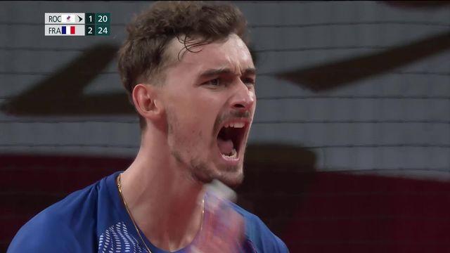 Volleyball messieurs, ROC – FRA: solides, les Français battent les Russes en quatre manches (21-25, 25-20, 17-25, 21-25) [RTS]