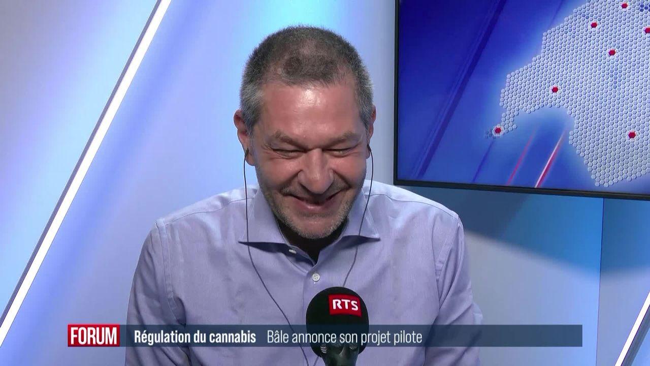 Bâle présente son projet-pilote de légalisation du cannabis: interview de Sandro Cattacin [RTS]