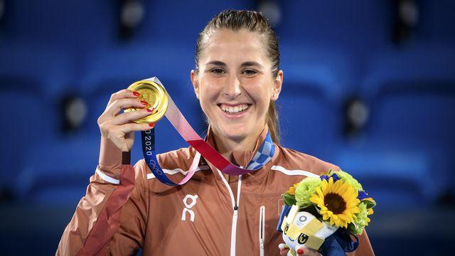 Belinda Bencic est revenue, avec émotions, sur son titre olympique en simple à Tokyo. [Laurent Gillieron - Keystone]