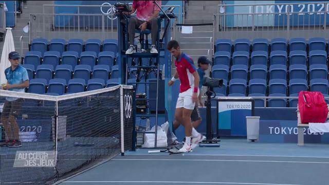 Tennis: Novak Djokovic perd la petite finale face à Carreno Busta et déclare forfait pour son match en double mixte [RTS]
